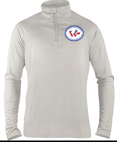 Quarter-Zip Grey Lightweight Pullover
