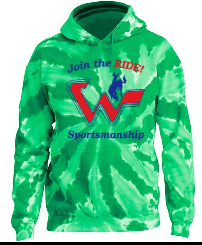 Tie-Dye Green Pullover Hooded Sweatshirt