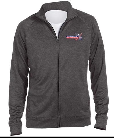 Full Zip Grey Lightweight Sports Jacket