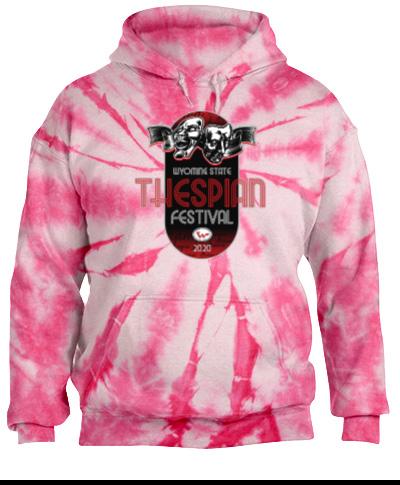 Tie-Dye Pink Pullover Hooded Sweatshirt