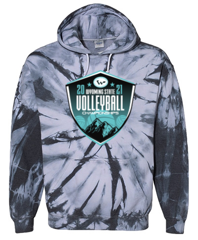 Tie-Dye Pullover Hooded Sweatshirt Black