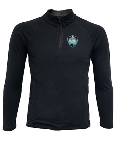 Quarter-Zip Black Lightweight Pullover