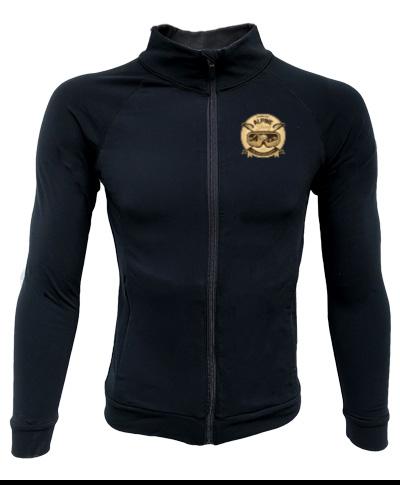 Full Zip Black Lightweight Jacket