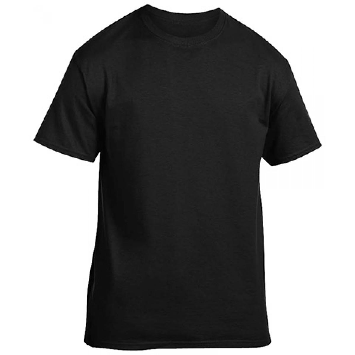 Cotton Short Sleeve T-Shirt - Black