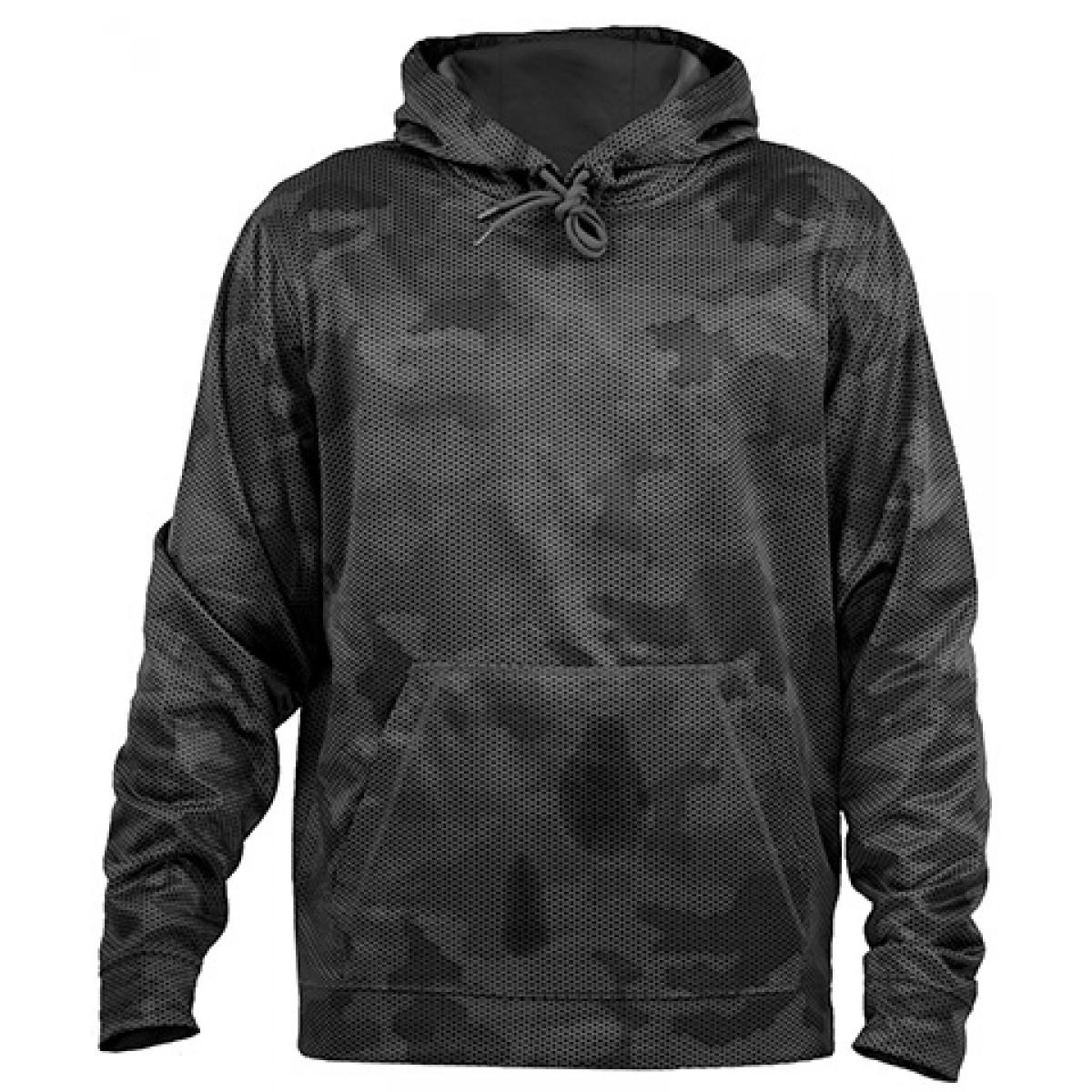 Gray/Black Camo Hoodie