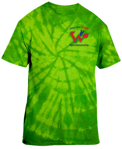 Tie-Dye Neon Green Short Sleeve