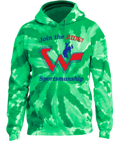 Tie-Dye Green Pullover Hooded Sweatshirt