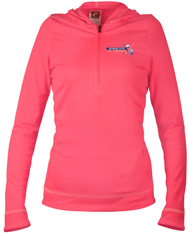Half-Zip Ladies Long-Sleeve Hoodie