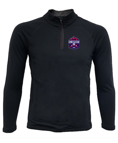 Quarter-Zip Black Lightweight Pullover