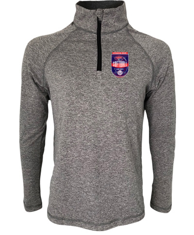 Quarter-Zip Heather Gray Lightweight Pullover